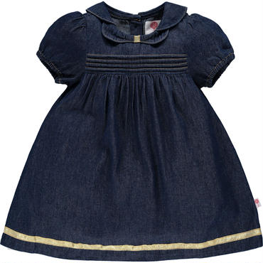デニム カップスリーブ  ドレス   104cm