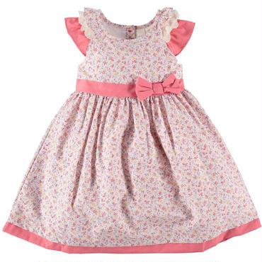 リバティ風プリント ドレス  ピンク   98cm,104cm