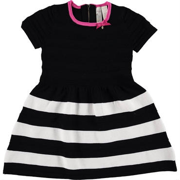 ブラック&ホワイト ストライプスカート 116cm