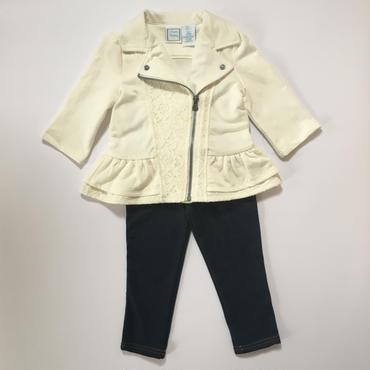 ホワイトレースジャケット&パンツ 92cm