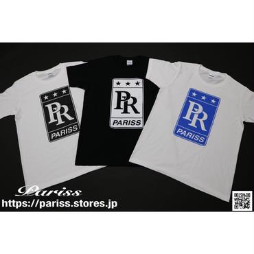PRロゴTシャツ【ホワイト×ブラック・ブルー】【ブラック×ホワイト】