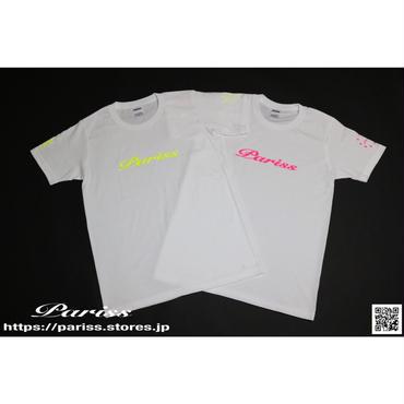 【新作】WロゴTシャツ【ホワイト×蛍光イエロー・ホワイト×蛍光ピンク】