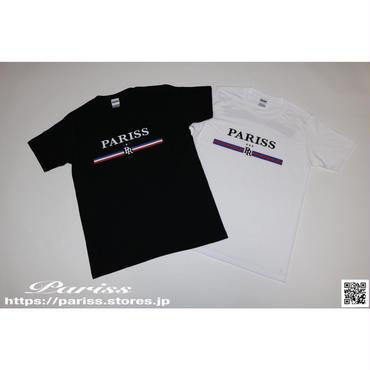 トリコロールTシャツ【ブラック・ホワイト】