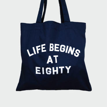 80KIDZ - Life Begins at Eighty トートバッグ (Navy)