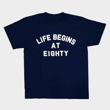 80KIDZ - Life Begins at Eighty Tee (indigo/white)