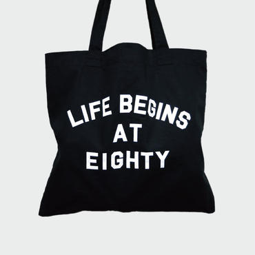 80KIDZ - Life Begins at Eighty トートバッグ (Black)
