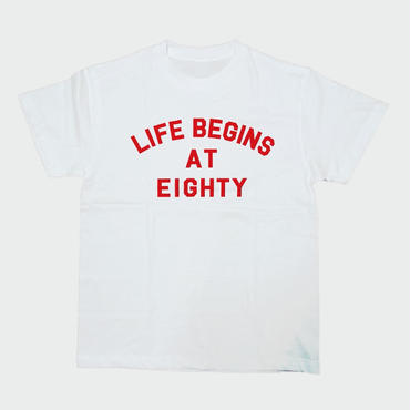 80KIDZ - Life Begins at Eighty Tee (white/red)