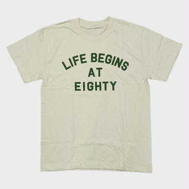 80KIDZ - Life Begins at Eighty Tee (natural/olive)