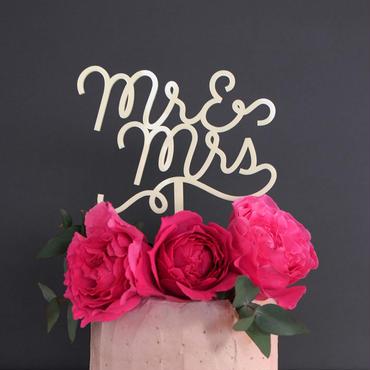Cake Topper - Mr & Mrs