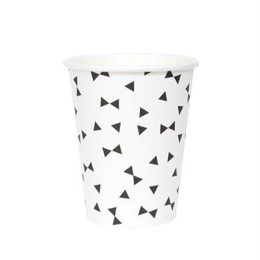 【My Little Day】ペーパーカップ/ブラックリボン 8個入り [MLD0202-MD059]