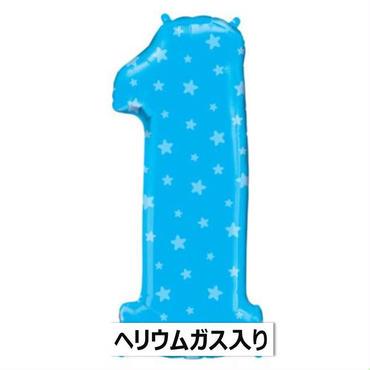 ぷかぷか浮かぶ♪ ナンバーワンブルースターズ  Qualatex [BF0503-16360-G]