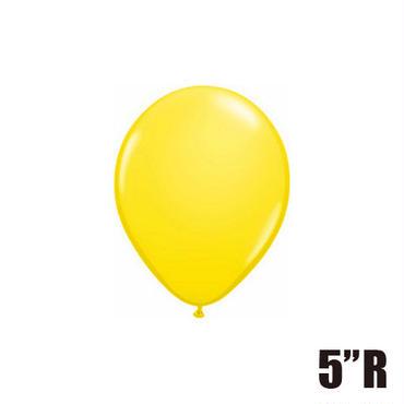 【ゴムバルーン】5インチ イエロー/5個セット 約13cm ラウンド 無地 [BG0101-43609-P]