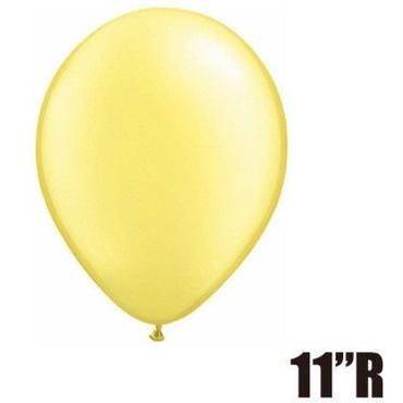 【ゴムバルーン】11インチ パールレモンシフォン/5個セット 約28cm ラウンド 無地 [BG0103-43776-P]