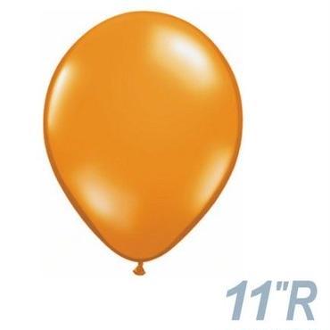【ゴムバルーン】11インチ マンダリンオレンジ/5個セット 約28cm ラウンド 無地 [BG0103-43760-P]