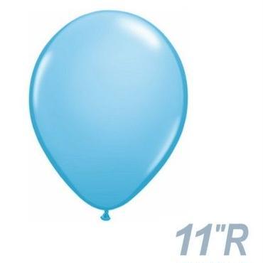 【ゴムバルーン】11インチ ペイルブルー/5個セット約28cm ラウンド 無地  [BG0103-43762-P]