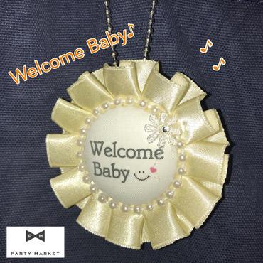 【Crescent Tiara (クレセントティアラ)】ウェルカベビーロゼット ベビーシャワー お祝い ギフト パーティー アクセサリー  [ZZ0202-CT003]