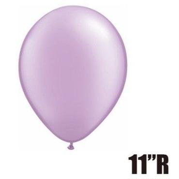 【ゴムバルーン】11インチ パールラベンダー/5個セット 約28cm ラウンド 無地[BG0103-43778-P]