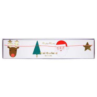 【MeriMeri】ミニガーランド /X'masサンタ・トナカイ・キノコ・森の木々/約1.8m [MM0101-45-3081]