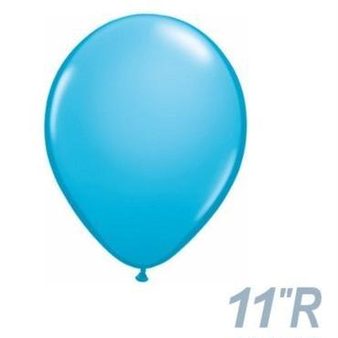 【ゴムバルーン】11インチ ロビンズエッグブルー/5個セット約28cm ラウンド 無地[BG0103-82685-P]