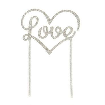【Talking Tables】ケーキトッパー/LOVE/シルバー [TT0205-TOPPER-LOVE-SIL]