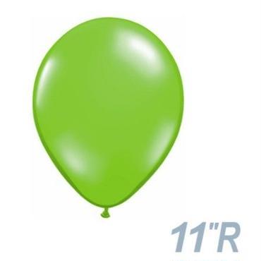 【ゴムバルーン】11インチ ジュエルライム/5個セット約28cm ラウンド 無地[BG0103-78194-P]