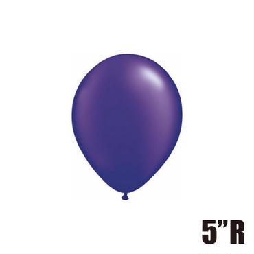 【ゴムバルーン】5インチ パールクォーツパープル/5個セット約13cm ラウンド 無地[BG0101-43593-P]