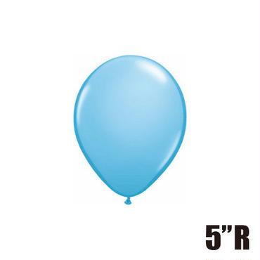 【ゴムバルーン】5インチ ペイルブルー/5個セット 約13cm ラウンド 無地 [BG0101-43571-P]