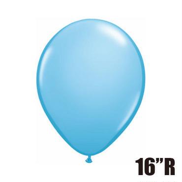 【ゴムバルーン】16インチ ペイルブルー/5個セット 約42cm ラウンド 無地 [BG0104-43879-P]
