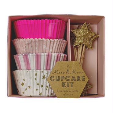 【MeriMeri】カップケーキキット/Stars&Stripes ピンク [MM0206-45-1204]