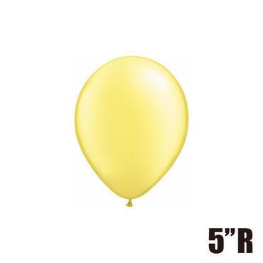 【ゴムバルーン】5インチ パールレモンシフォン/5個セット 約13cm ラウンド 無地 [BG0101-43585-P]