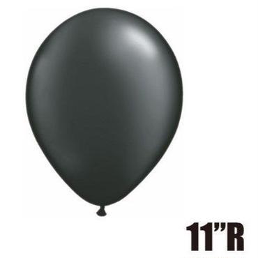 【ゴムバルーン】11インチ パールオニキスブラック/5個セット約28cm ラウンド 無地 [BG0103-43770-P]