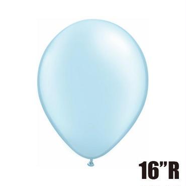 【ゴムバルーン】16インチ パールライトブルー/5個セット約42cm ラウンド 無地[BG0104-43888-P]
