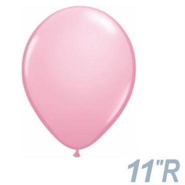 【ゴムバルーン】11インチ ピンク/5個セット 約28cm ラウンド 無地 [BG0103-43766-P]