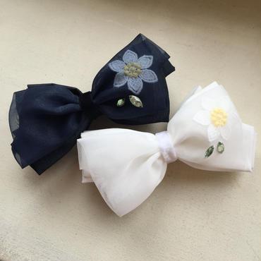Flower Tulle Ribbonバナナクリップ