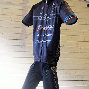 AMORE&VITA プロサイクリングチーム ジャージ&ビブショーツセット