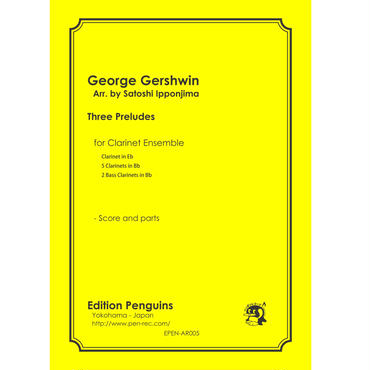George Gershwin 3 Preludes for Clarinet Ensemble