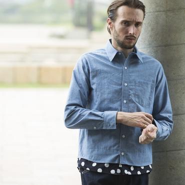 [SALE][30%OFF] レイヤーダンガリーシャツ / PROJECT SR'ES(プロジェクトエスアールエス) / 日本製