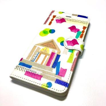 Android用手帳型スマホケース Sサイズ【図書館】スマホ本体サイズ幅67mm以内×高さ128mm以内