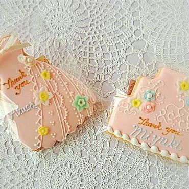 ドレス  or  ケーキ (ピンク・花)プチギフト 座席札