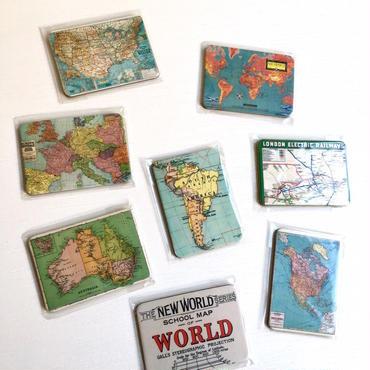 地図マグネット 4枚セット