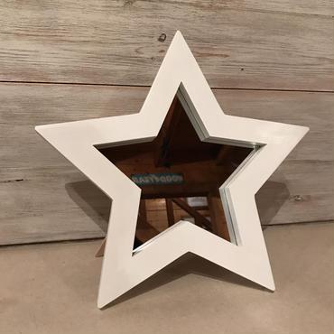 星型ミラー  スタンド  ホワイト