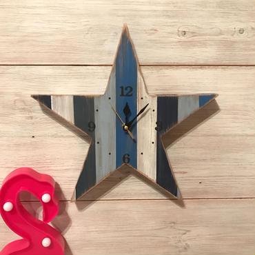 星時計  30  古材  ブルー