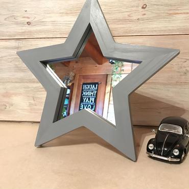 星型ミラー  スタンド  グレー