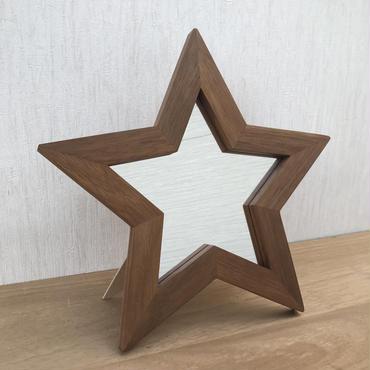 星型ミラー  2way  マホガニー材1