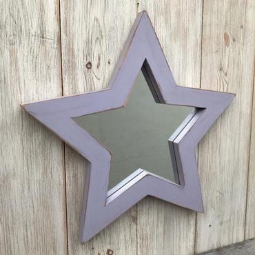 星型ミラー  アンティークラベンダー