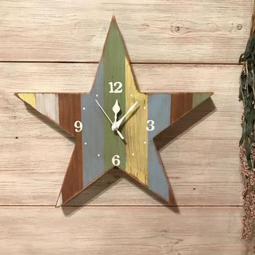 星時計  30  古材  パステル