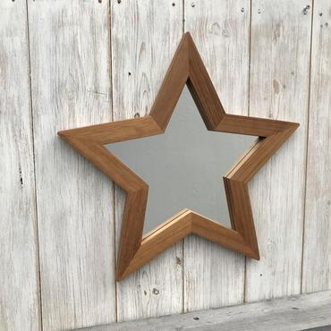 星型ミラー  大  マホガニー材 2