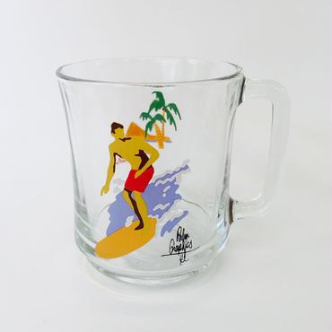 84630 GLASS MUG  ALOHA SURF