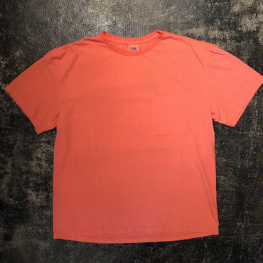 「THE FABRIC」POCKET TEE - color / RED