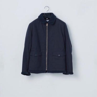 「NECESSARY or UNNECESSARY」BOMBER COTTON / color -NAVY